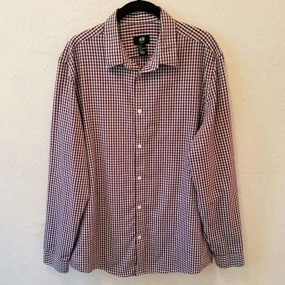 d95be004e14a H&M Shirts | Mens Hm Easy Iron Slim Fit Button Down Size L | Poshmark